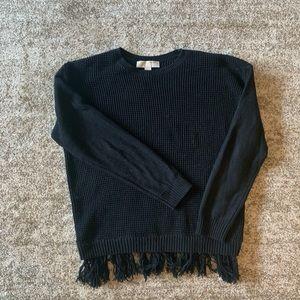 Black fringe Michael Kors sweater